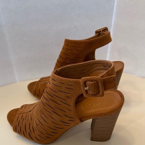 Rusty Brown Peep Hole Sandals | Poshmark